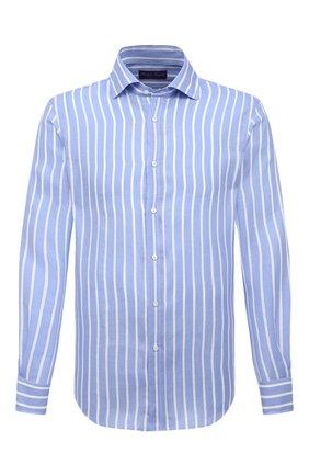 Мужская льняная рубашка RALPH LAUREN синего цвета, арт. 790826542 | Фото 1