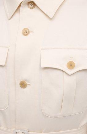 Мужская куртка из хлопка и льна RALPH LAUREN белого цвета, арт. 798838200 | Фото 5