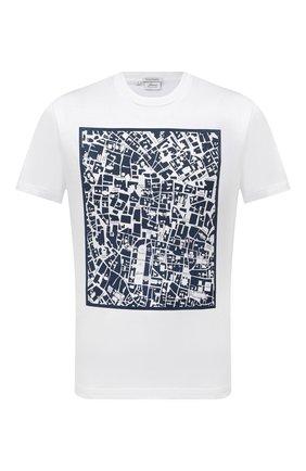 Мужская хлопковая футболка BRIONI белого цвета, арт. UJCH0L/P0645 | Фото 1