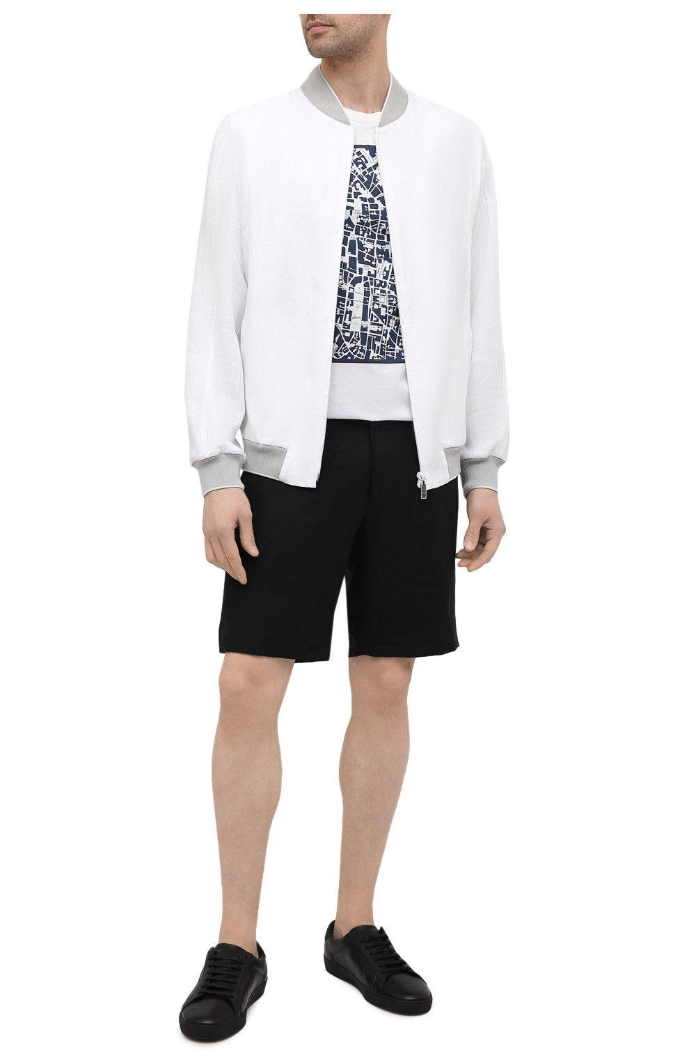 Мужская хлопковая футболка BRIONI белого цвета, арт. UJCH0L/P0645 | Фото 2