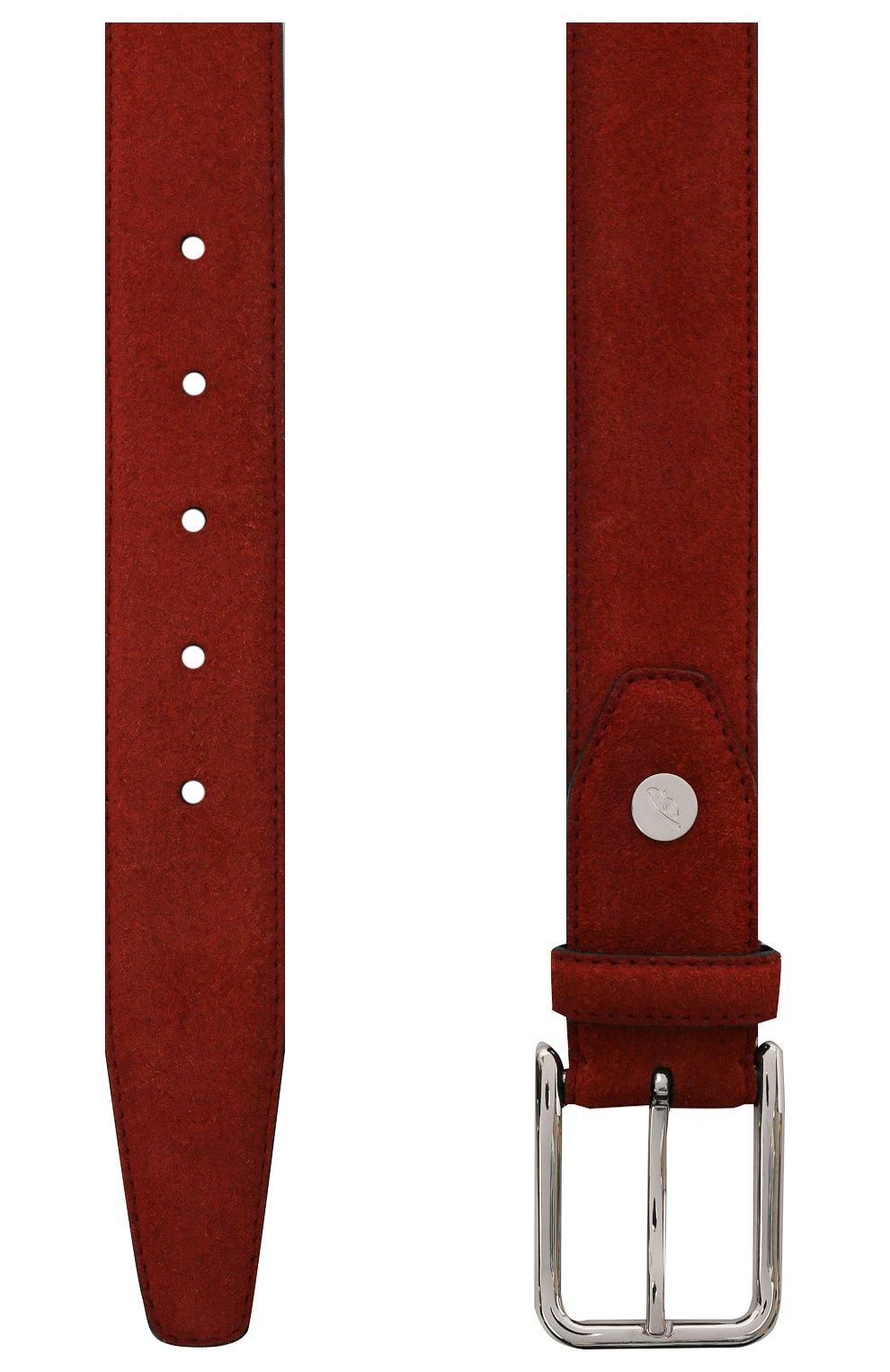 Мужской замшевый ремень BRIONI бордового цвета, арт. 0B1A0L/09722   Фото 2