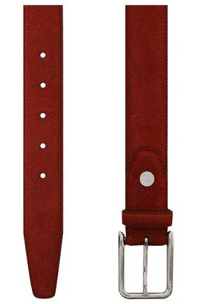 Мужской замшевый ремень BRIONI бордового цвета, арт. 0B1A0L/09722 | Фото 2