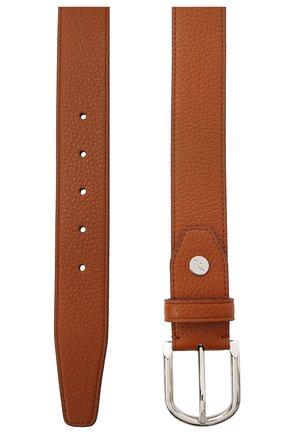 Мужской кожаный ремень BRIONI светло-коричневого цвета, арт. 0BAN0L/09719 | Фото 2