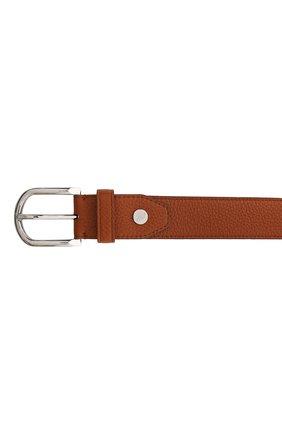 Мужской кожаный ремень BRIONI светло-коричневого цвета, арт. 0BAN0L/09719 | Фото 3