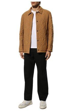 Мужские кожаные кеды vl7n VALENTINO белого цвета, арт. VY0S0E03/JTV | Фото 2 (Подошва: Массивная; Материал внутренний: Текстиль)