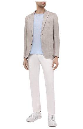 Мужские кожаные кеды BERLUTI белого цвета, арт. S5537-001   Фото 2 (Подошва: Плоская; Материал внешний: Кожа; Материал внутренний: Натуральная кожа)