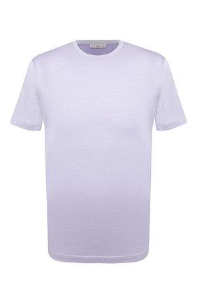 Мужская хлопковая футболка LUCIANO BARBERA фиолетового цвета, арт. 119565/81215 | Фото 1