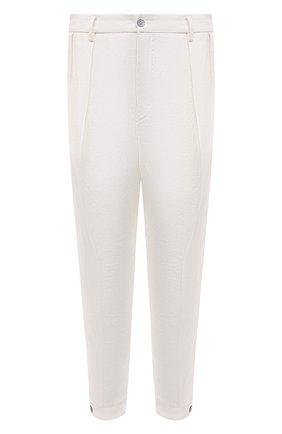Мужские льняные брюки GIORGIO ARMANI белого цвета, арт. 1SGPP0HH/T02JV   Фото 1