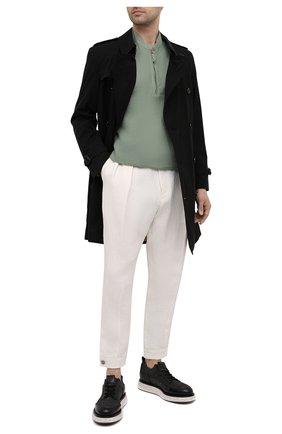 Мужские льняные брюки GIORGIO ARMANI белого цвета, арт. 1SGPP0HH/T02JV   Фото 2