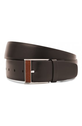 Мужской кожаный ремень ZILLI коричневого цвета, арт. MJL-CLAQE-01030/0057/115-120 | Фото 1
