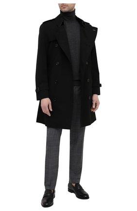 Мужские шерстяные брюки DOLCE & GABBANA серого цвета, арт. GY7BMT/FQ2LY | Фото 2