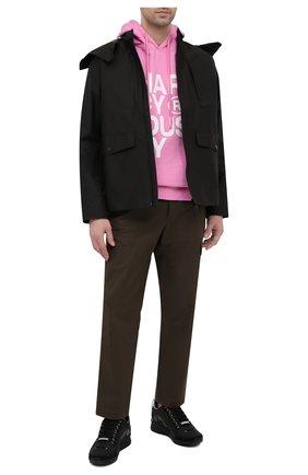 Мужские кожаные кроссовки 551 DSQUARED2 черного цвета, арт. SNM0153 30801660 | Фото 2