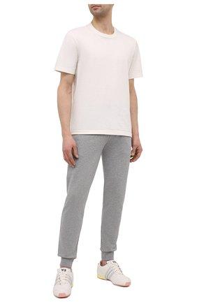Мужские кожаные кроссовки sprint Y-3 белого цвета, арт. FZ4474/M | Фото 2 (Подошва: Массивная; Материал внутренний: Натуральная кожа; Стили: Спорт)