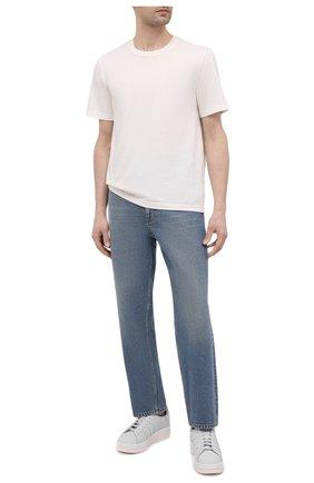Мужские кожаные кеды hicho Y-3 белого цвета, арт. FZ4339/M | Фото 2 (Материал внутренний: Натуральная кожа; Подошва: Массивная)