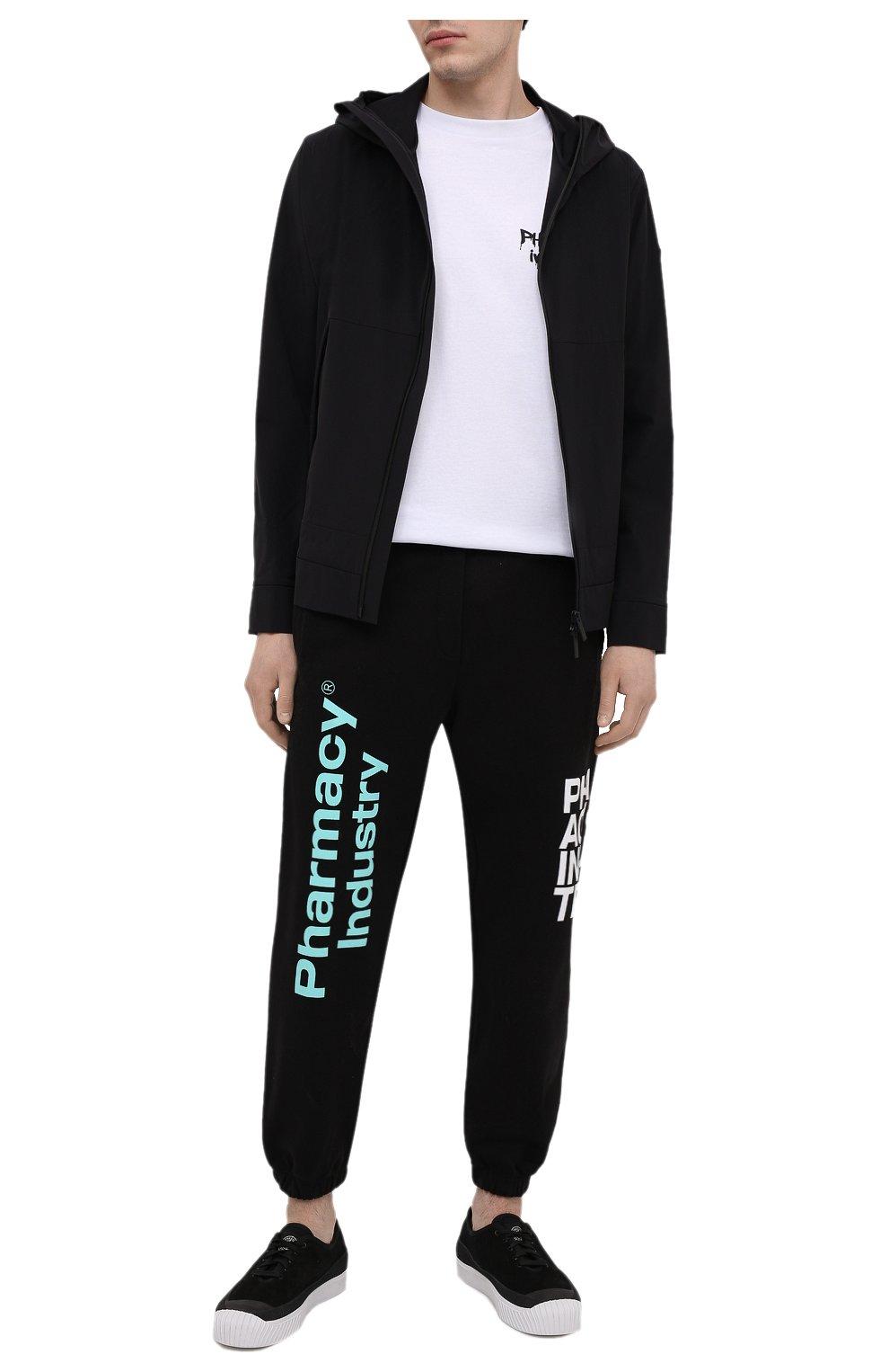 Мужские хлопковые джоггеры PHARMACY INDUSTRY черного цвета, арт. PHM228 | Фото 2