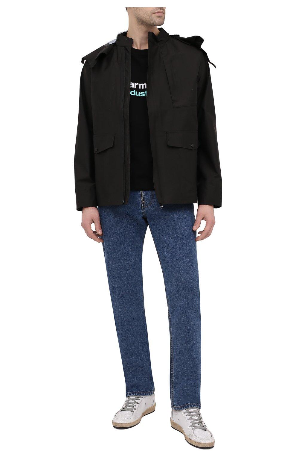 Мужская хлопковая футболка PHARMACY INDUSTRY черного цвета, арт. PHM235   Фото 2