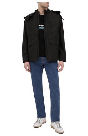 Мужская хлопковая футболка PHARMACY INDUSTRY черного цвета, арт. PHM235 | Фото 2