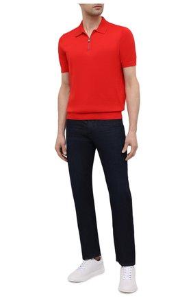 Мужское поло BOSS красного цвета, арт. 50449958 | Фото 2