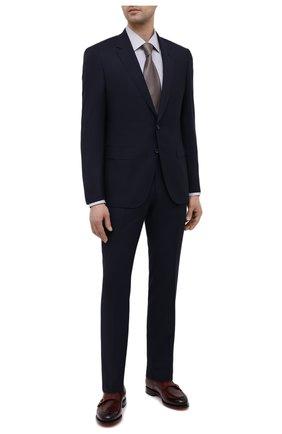 Мужская хлопковая сорочка BOSS темно-серого цвета, арт. 50451047 | Фото 2 (Рукава: Длинные; Материал внешний: Хлопок; Длина (для топов): Стандартные; Случай: Формальный; Принт: Полоска; Стили: Классический; Воротник: Кент; Манжеты: На пуговицах; Рубашки М: Slim Fit)