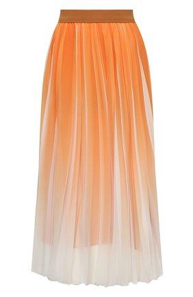 Женская плиссированная юбка BOSS оранжевого цвета, арт. 50447599 | Фото 1