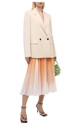Женская плиссированная юбка BOSS оранжевого цвета, арт. 50447599 | Фото 2