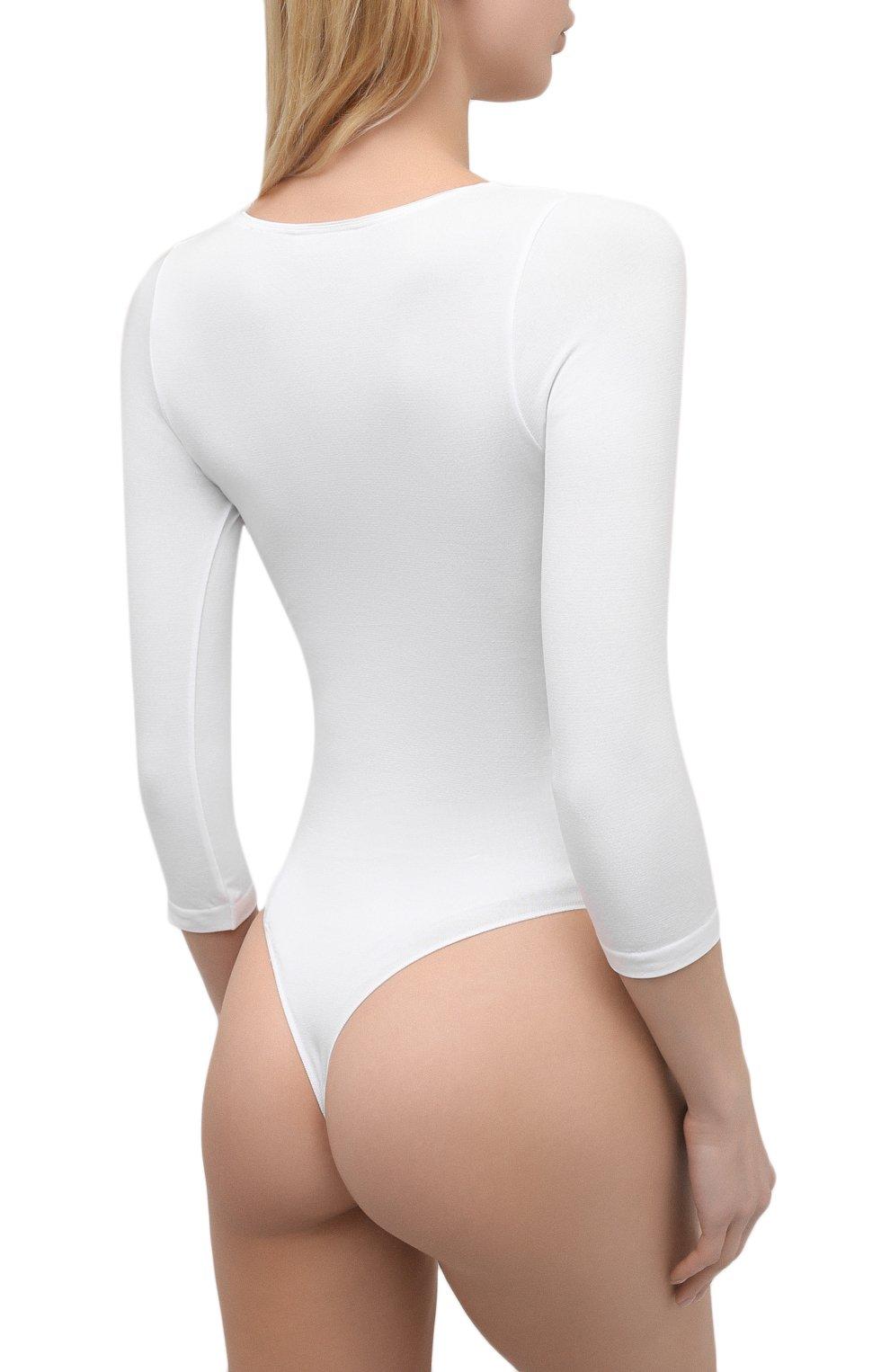 Женское боди FALKE белого цвета, арт. 40932   Фото 3