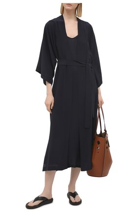 Женское шелковое платье SHAN темно-синего цвета, арт. 42121-96 | Фото 2