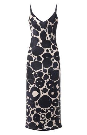 Женское шелковое платье SHAN темно-синего цвета, арт. 42121-96 | Фото 1