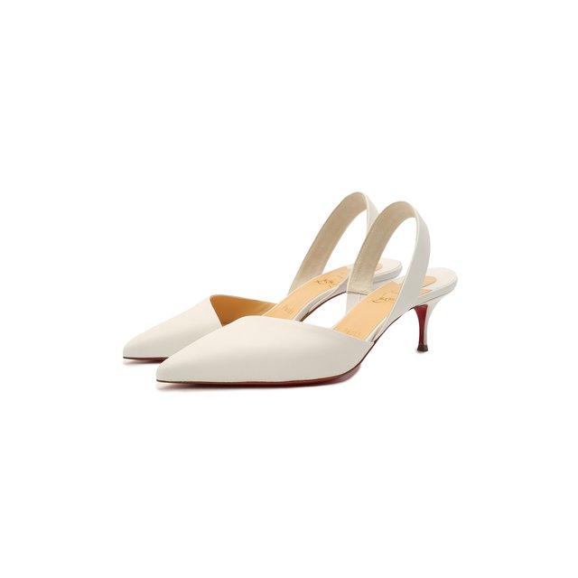 Кожаные туфли Viola Sling 55 Christian Louboutin