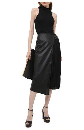 Женские кожаные босоножки felina CASADEI черного цвета, арт. 1L802S1201FL0RE9000 | Фото 2