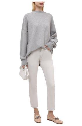 Женские кожаные лоферы CASADEI бежевого цвета, арт. 1A182P0101C12993302 | Фото 2