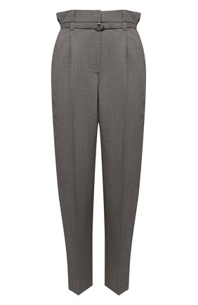 Женские брюки из шерсти и льна BRUNELLO CUCINELLI серого цвета, арт. MH513P7461 | Фото 1