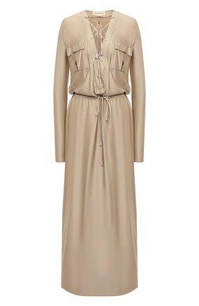 Женское платье из вискозы ALEXANDRE VAUTHIER бежевого цвета, арт. 211DR1437 1406-211 | Фото 1