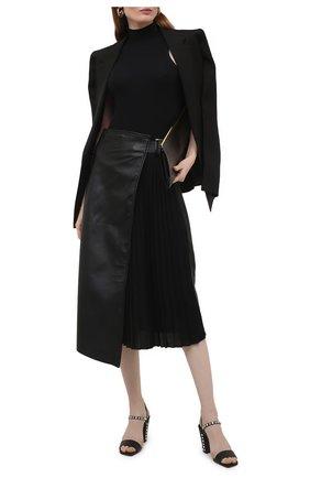 Женские кожаные босоножки aadra 85 JIMMY CHOO черного цвета, арт. AADRA 85/NXD | Фото 2