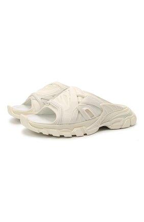 Женские комбинированные шлепанцы track BALENCIAGA белого цвета, арт. 618084/W2NA1   Фото 1