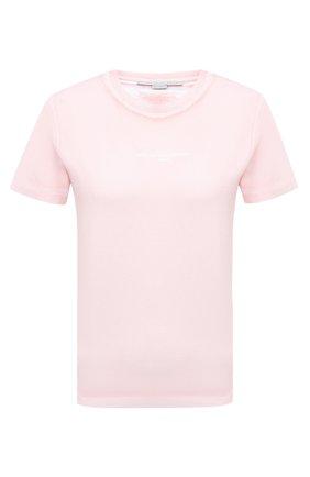 Женская хлопковая футболка STELLA MCCARTNEY розового цвета, арт. 602907/S0W56 | Фото 1