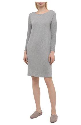 Женская сорочка из вискозы HANRO серого цвета, арт. 076388 | Фото 2