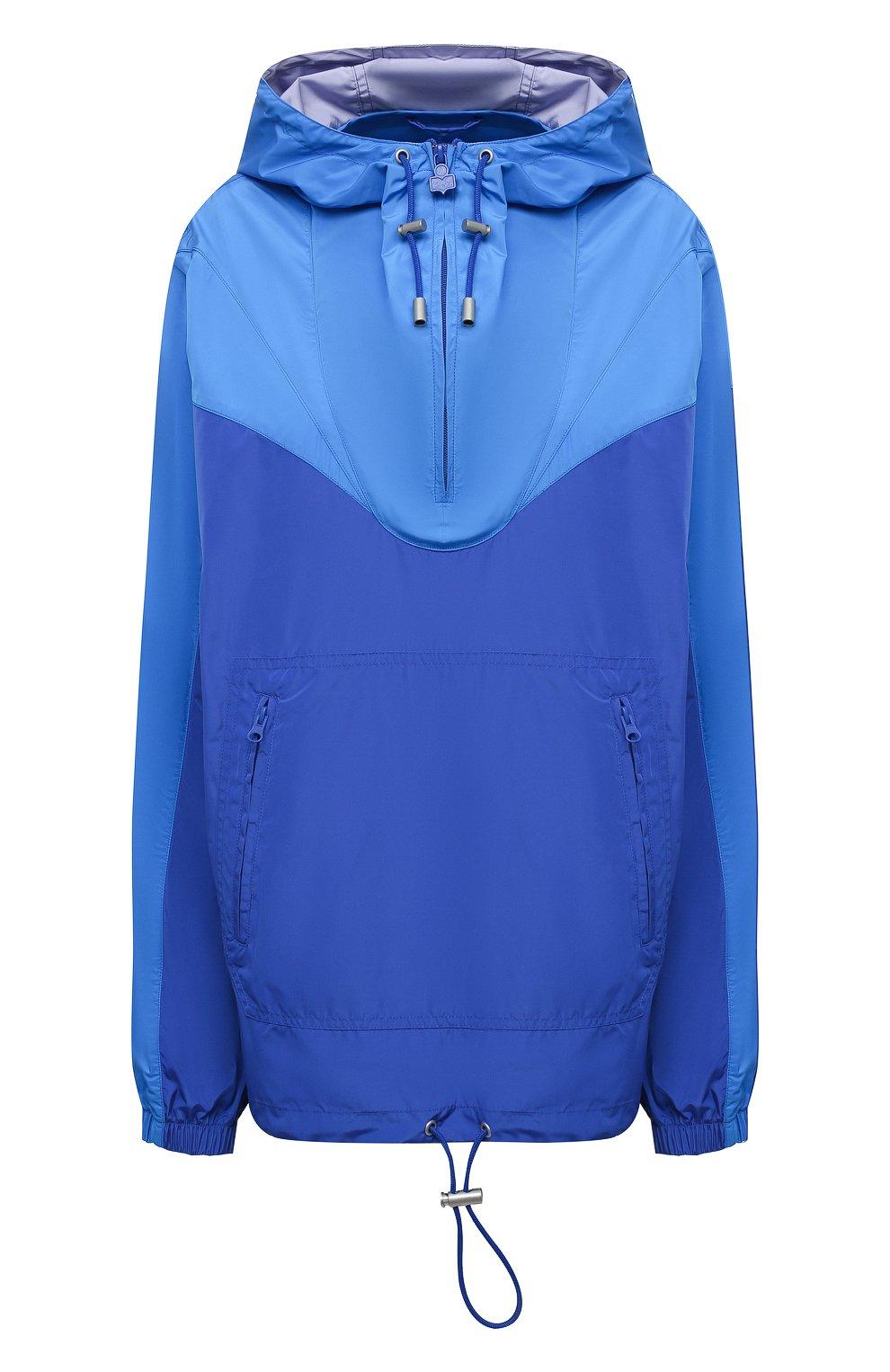 Женская анорак ISABEL MARANT ETOILE синего цвета, арт. MA0930-21P001W/RICHILI | Фото 1 (Кросс-КТ: Куртка, Ветровка; Рукава: Длинные; Женское Кросс-КТ: Куртка-спорт; Материал внешний: Синтетический материал; Стили: Спорт-шик; Длина (верхняя одежда): Короткие)