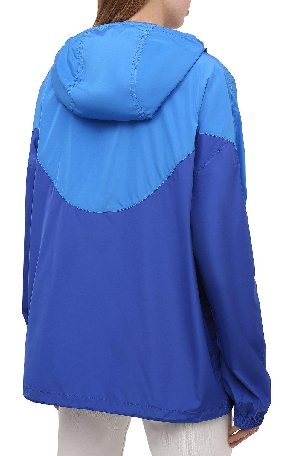 Женская анорак ISABEL MARANT ETOILE синего цвета, арт. MA0930-21P001W/RICHILI | Фото 4 (Кросс-КТ: Куртка, Ветровка; Рукава: Длинные; Женское Кросс-КТ: Куртка-спорт; Материал внешний: Синтетический материал; Стили: Спорт-шик; Длина (верхняя одежда): Короткие)