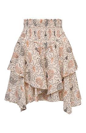 Женская хлопковая юбка ISABEL MARANT ETOILE бежевого цвета, арт. JU1239-21P031E/ALS0 | Фото 1