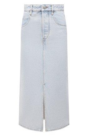 Женская джинсовая юбка ISABEL MARANT ETOILE светло-голубого цвета, арт. JU1245-21P019E/LAURINA   Фото 1