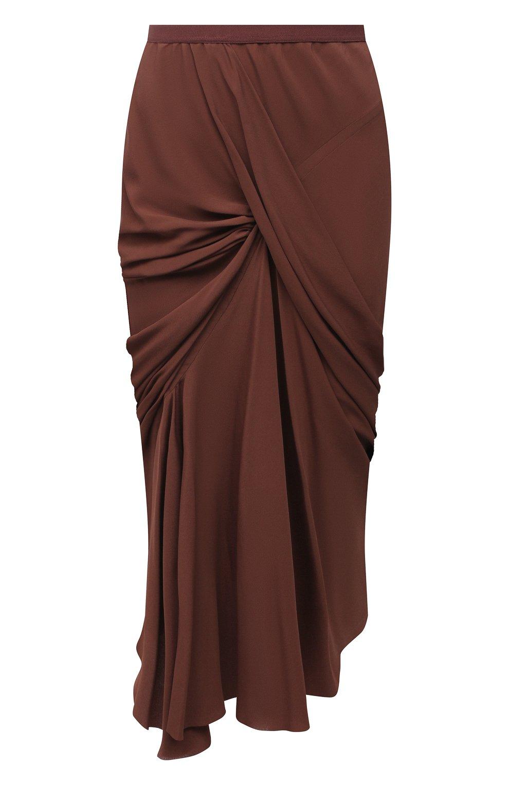 Женская юбка RICK OWENS коричневого цвета, арт. RP21S3336/CC | Фото 1