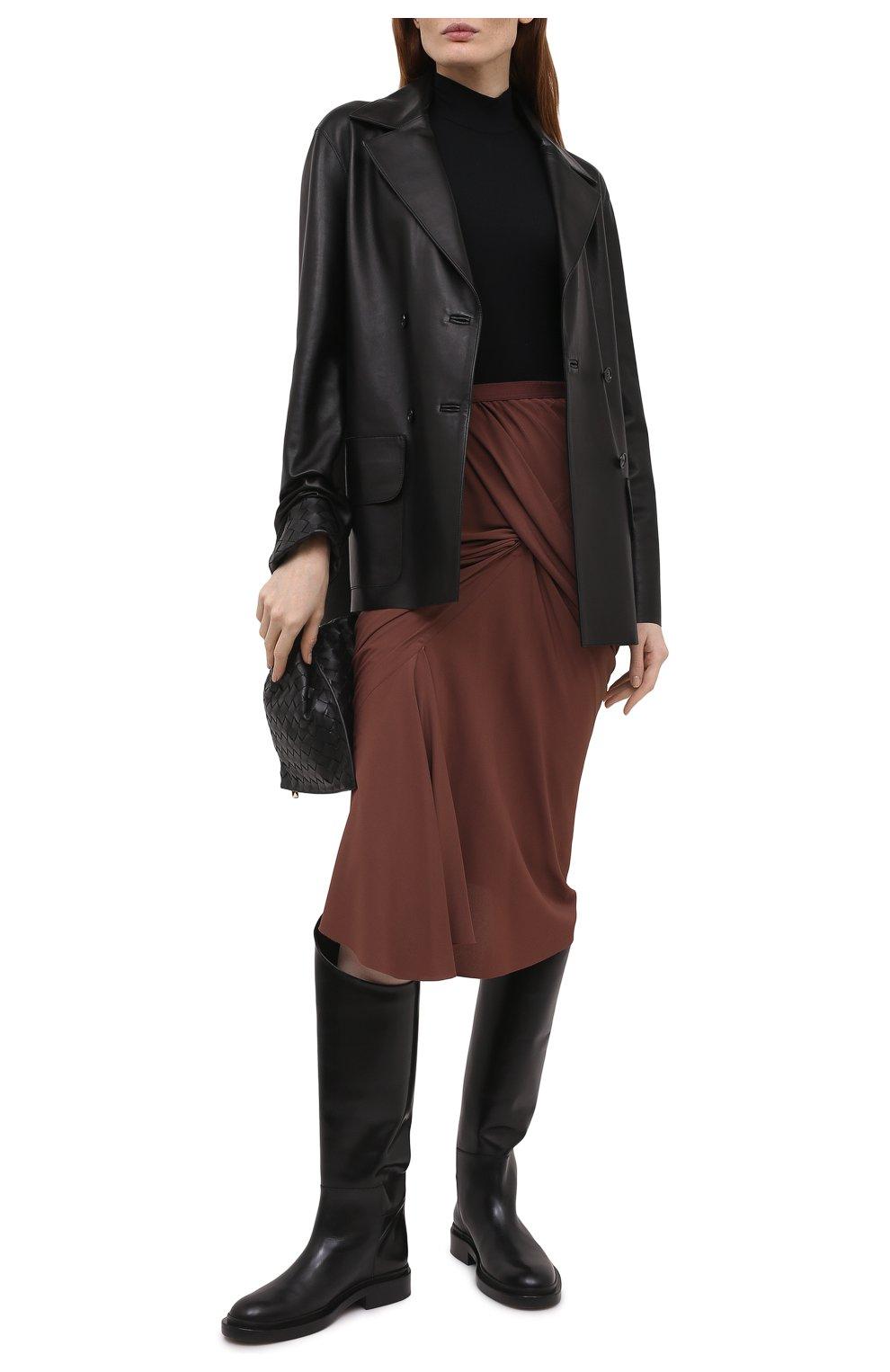 Женская юбка RICK OWENS коричневого цвета, арт. RP21S3336/CC | Фото 2
