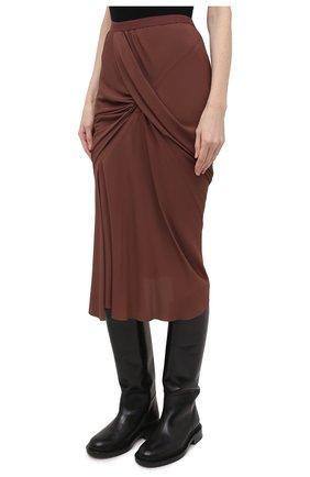 Женская юбка RICK OWENS коричневого цвета, арт. RP21S3336/CC | Фото 3