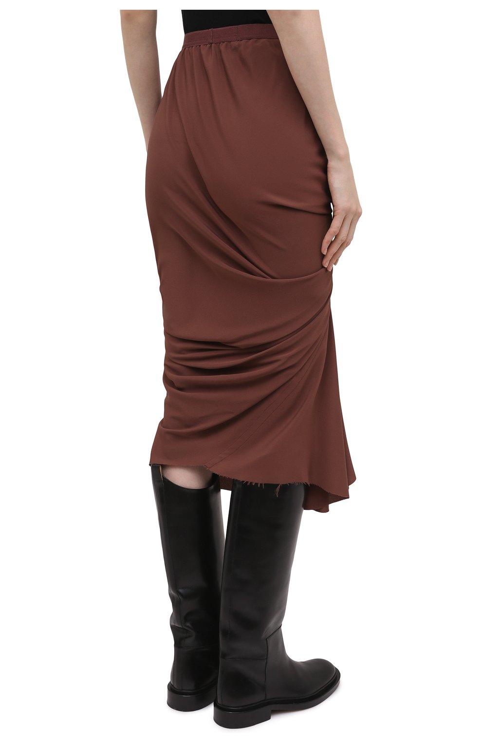 Женская юбка RICK OWENS коричневого цвета, арт. RP21S3336/CC | Фото 4
