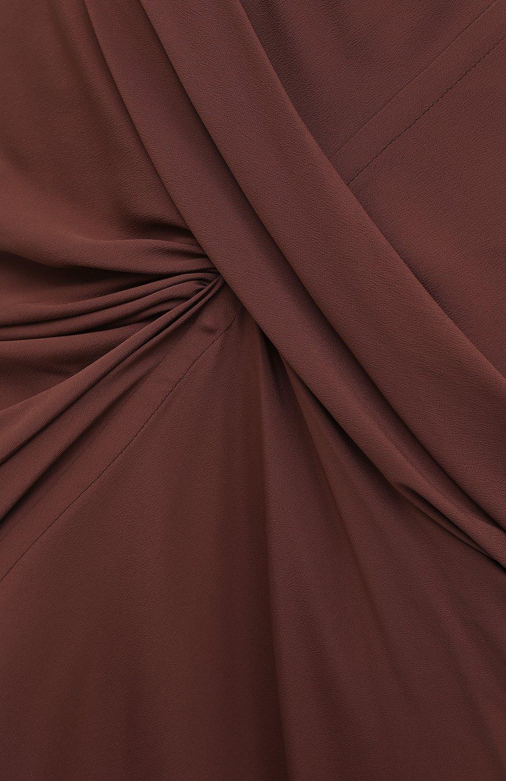 Женская юбка RICK OWENS коричневого цвета, арт. RP21S3336/CC | Фото 5