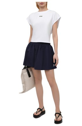 Женская хлопковая футболка MSGM белого цвета, арт. 3045MDM02 217298 | Фото 2
