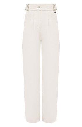 Женские джинсы MSGM белого цвета, арт. 3041MDP48T 217279 | Фото 1 (Материал внешний: Хлопок; Длина (брюки, джинсы): Стандартные; Силуэт Ж (брюки и джинсы): Прямые; Стили: Романтичный; Кросс-КТ: Деним)