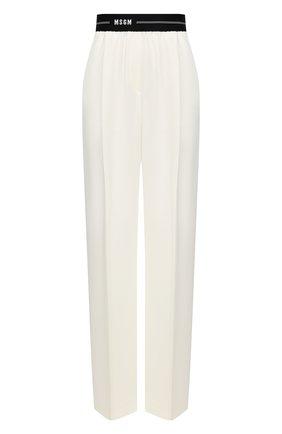 Женские брюки MSGM белого цвета, арт. 3041MDP12 217116 | Фото 1