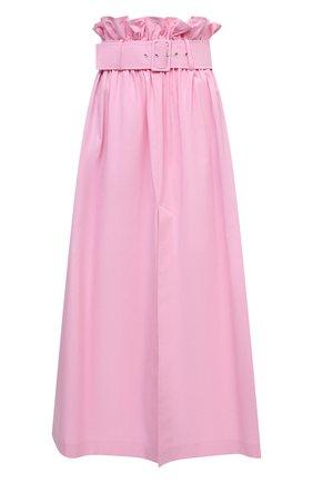 Женская хлопковая юбка MSGM светло-розового цвета, арт. 3041MDD04A 217104 | Фото 1